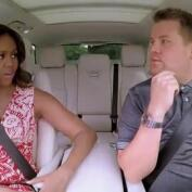 Así es el 'carpool karaoke' de Michelle Obama con James Corden