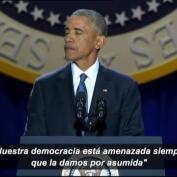 Obama se despide emocionado diez días antes de abandonar la Casa Blanca