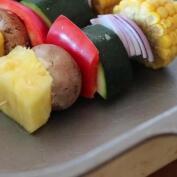 La receta de la brocheta de verduras