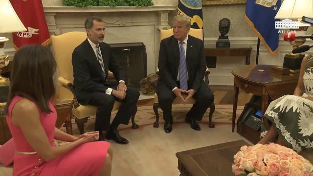 Trump recibe a los Reyes de España en la Casa Blanca