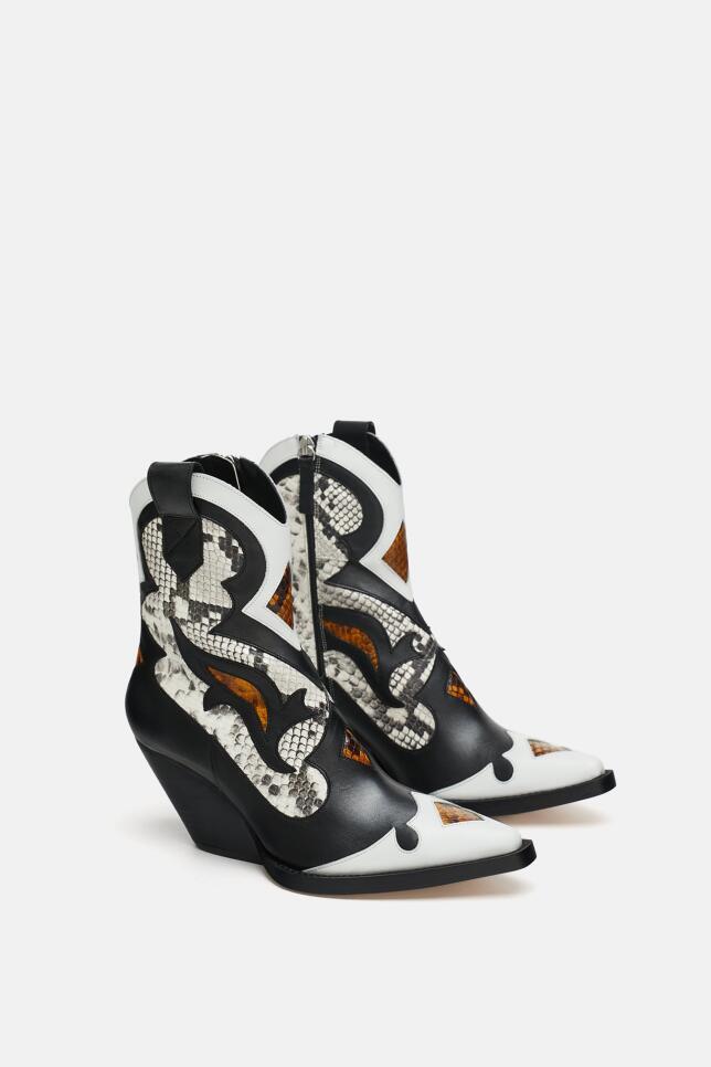 Botas con estampado multicolor de Zara 119,00 EUR