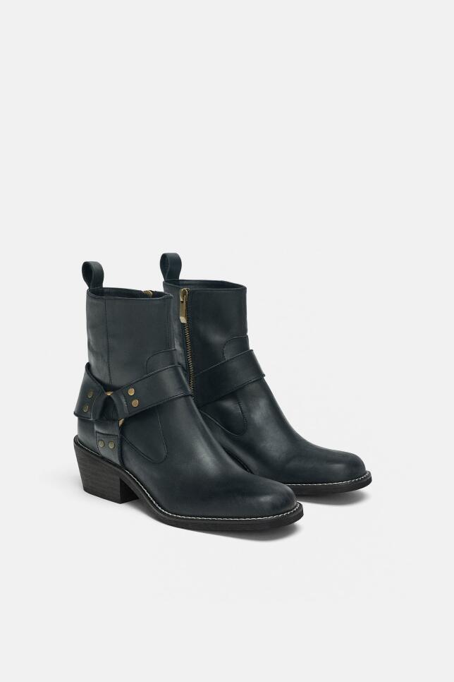 Botines moteros de Zara 39,99 EUR