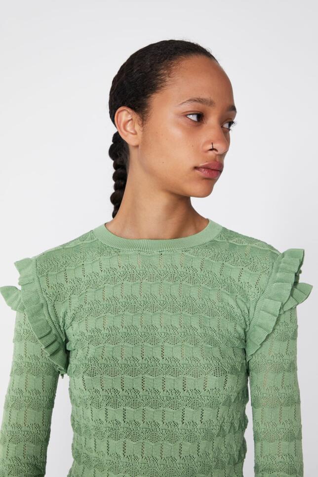 Jersey calado de Zara 19,95 EUR
