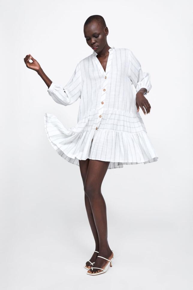Vestido camisero corto de Zara 29,95 EUR