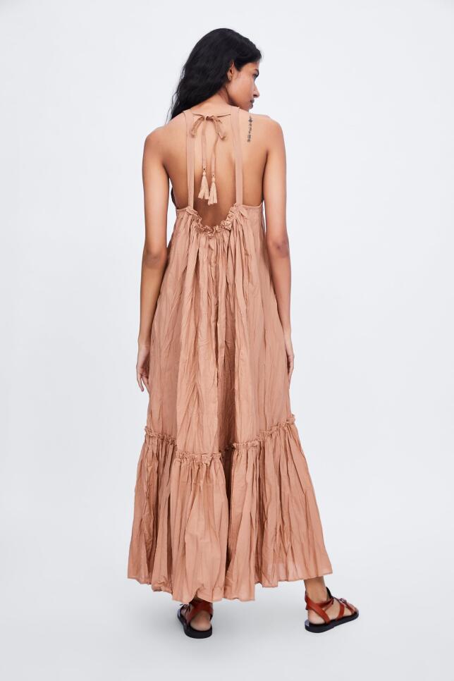 Vestido color maquillaje de Zara 29,95 EUR