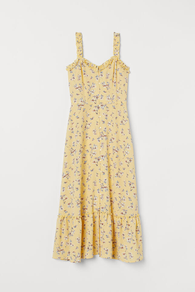 Vestido amarillo de H&M 34,99 €