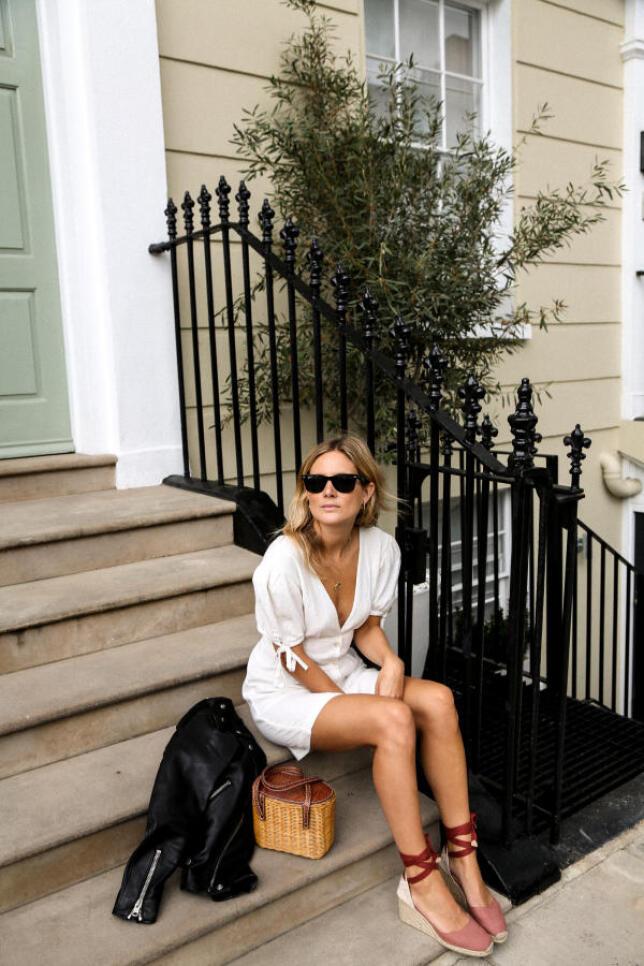 Vestido camisero + zapatillas de esparto Lucy Williams   Fashion Me Now (@lucywilliams02)