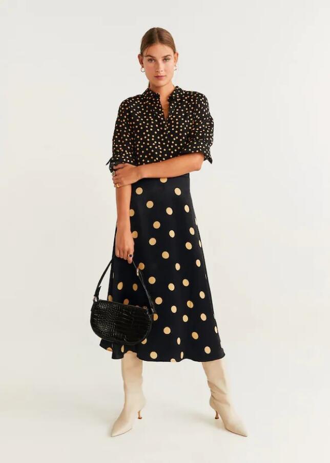 Falda con estampado de lunares de Mango 29,99 €
