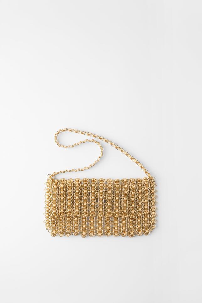 Bolso metalizado de Zara 29.95 EUR