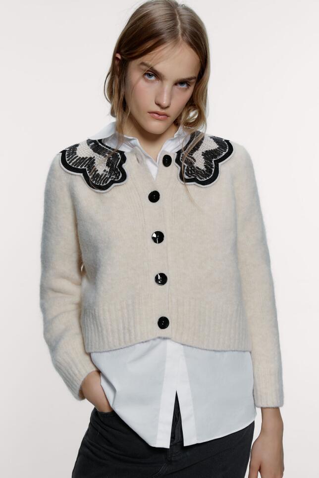 Chaqueta con babero de Zara 39,95 EUR