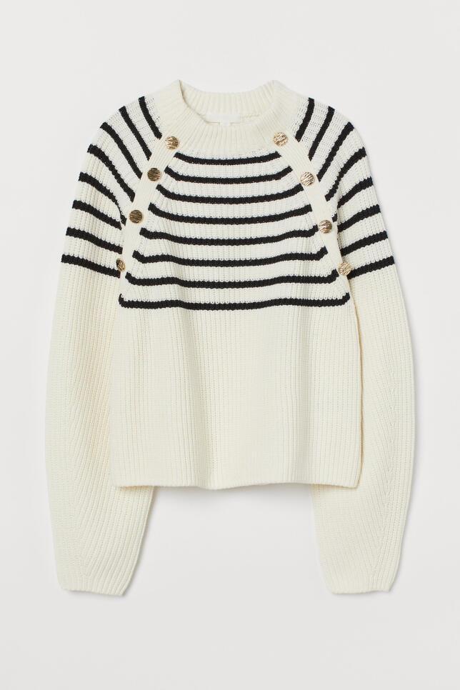 Jersey con rayas y botones de H&M 19,99 €
