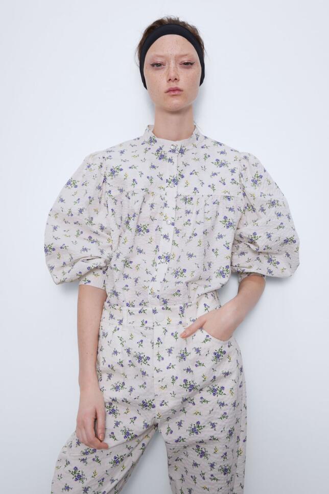 Blusa estampada de Zara 39,95 EUR