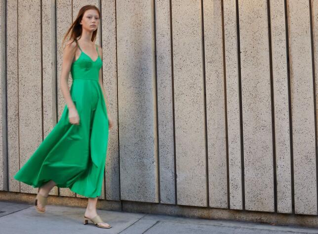Vestido verde de tirantes de Zara 29,95 EUR