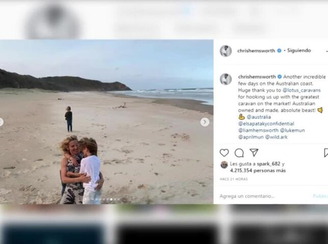 Elsa Pataky y Chris Hemsworth surfean las dunas australianas