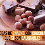 5 snacks saludables con chocolate