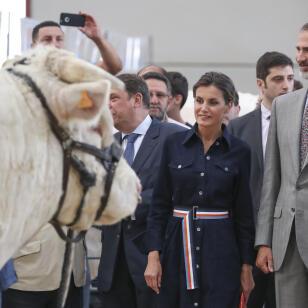 Letizia estrenó este vestido vaquero a finales de julio