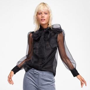 Blusa de Zara para tu look de invitada de boda