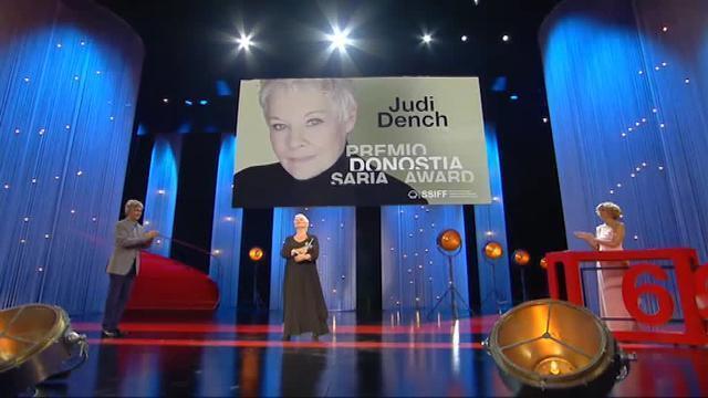 Judi Dench recibe el Premio Donostia
