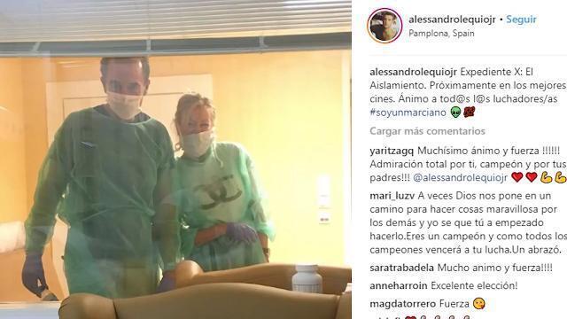Aless Lequio muestra la nueva fase de su tratamiento contra el cáncer