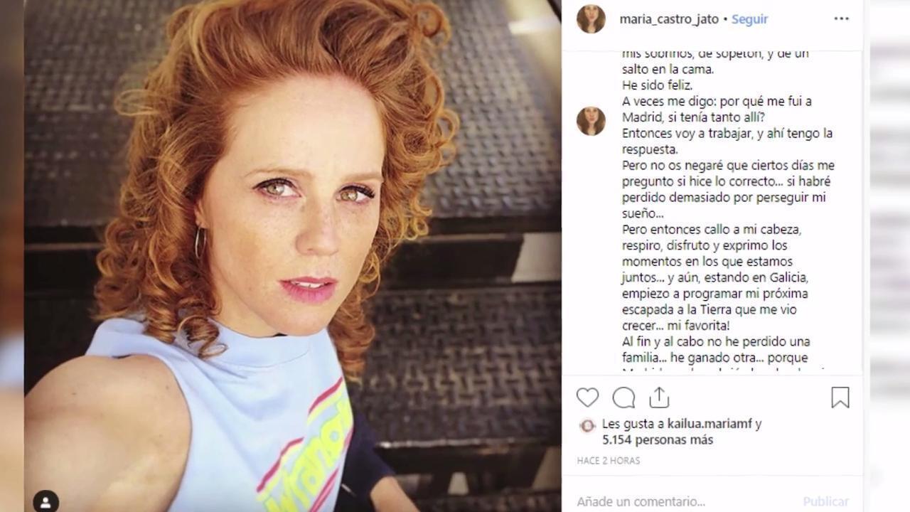María Castro abre su corazón en Instagram