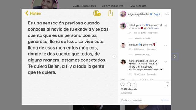 El bonito detalle de Miguel Ángel Silvestre a Belén López