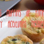 Receta: egg muffins de tomate y aceitunas negras