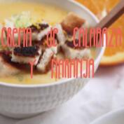 Receta: crema de calabaza y naranja