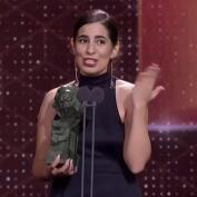 Irene Moray y su discurso a las víctimas de abusos sexuales al recoger el premio al mejor corto de ficción