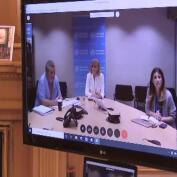 Los Reyes se reúnen con representantes de la Organización Mundial de la Salud
