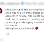 Sofía Suescun felicita a Kiko Jiménez con una sugerente instantánea