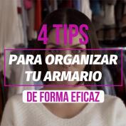 4 tips para organizar tu armario de forma eficaz