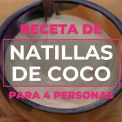 Receta de natillas de coco sin lactosa